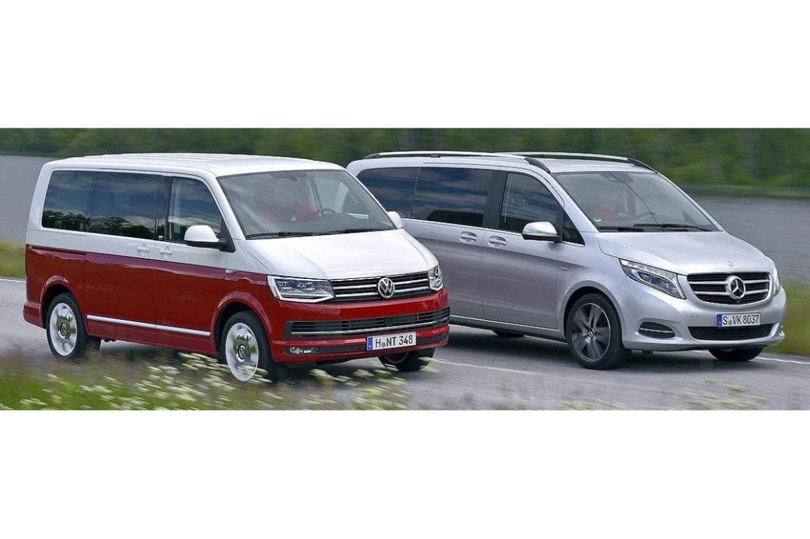 Сравнение Volkswagen T6 Multivan и Mercedes V-Class